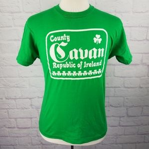 Vintage 1980's Cavan Republic Of Ireland T-Shirt